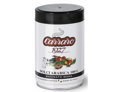 Кофе молотый Carraro Dolci Arabica 0,25 кг. ж/б