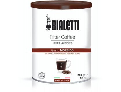 Кофе молотый Bialetti Gusto Morbido 0,25 кг. ж/б