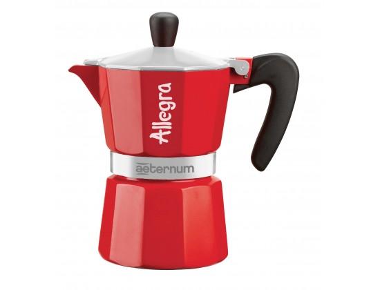 Гейзерная кофеварка Aeternum Allegra Red на 3 порции 6014