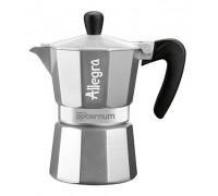 Гейзерная кофеварка Aeternum Allegra Silver на 3 порции 6015