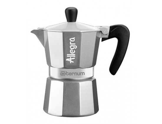 Гейзерная кофеварка Aeternum Allegra Silver на 6 порций 6018