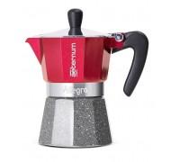 Гейзерная кофеварка Aeternum Allegra Petra Red на 3 порции 5692