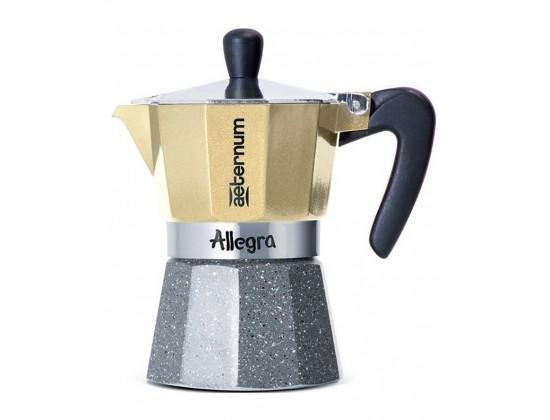 Гейзерная кофеварка Aeternum Allegra Petra Platino на 3 порции 5682
