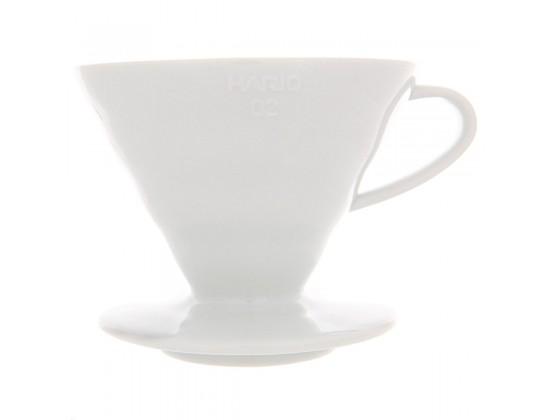 Воронка керамическая Hario VDC-02W White