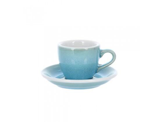 Кофейная пара Loveramics Egg 80 мл, светло-голубая