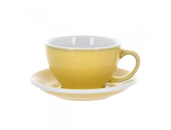 Кофейная пара Loveramics Egg 300 мл, сливочно-желтая