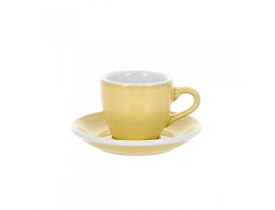 Кофейная пара Loveramics Egg 80 мл, сливочно-желтая