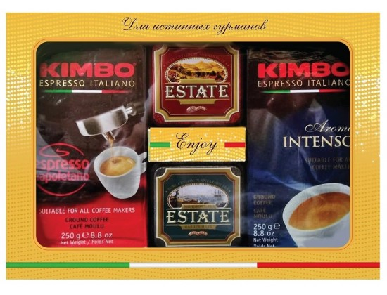 Набор кофе Kimbo и чай Estate