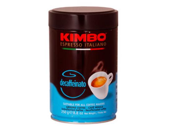 Кофе молотый Kimbo Decaffeinato 0,25 кг. ж/б