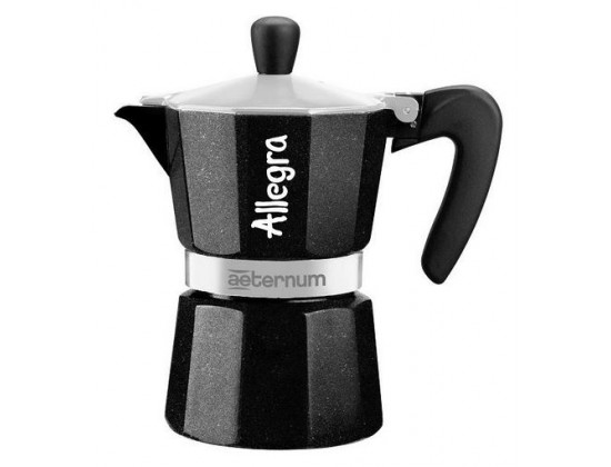 Гейзерная кофеварка Aeternum Allegra Black на 6 порций 5673