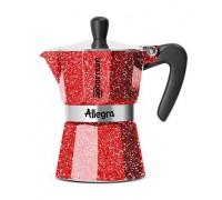 Гейзерная кофеварка Bialetti Allegra Rubino на 3 порции 5612