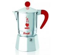 Гейзерная кофеварка Bialetti Break Red на 3 порции 5932