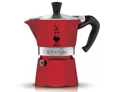 Гейзерная кофеварка Bialetti Moka Express Red на 3 порции 4942