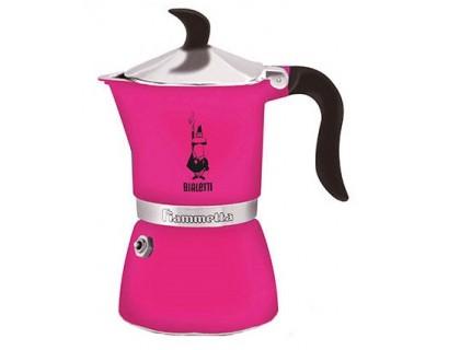 Гейзерная кофеварка Bialetti Fiametta Fuchsia 5352