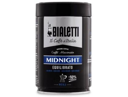 Кофе молотый Bialetti Moka Midnight 0,25 кг. ж/б