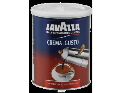 Кофе молотый Lavazza Crema e Gusto 0,25 кг. ж/б