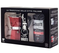 Подарочный набор Bialetti Moka Express Red + кофе