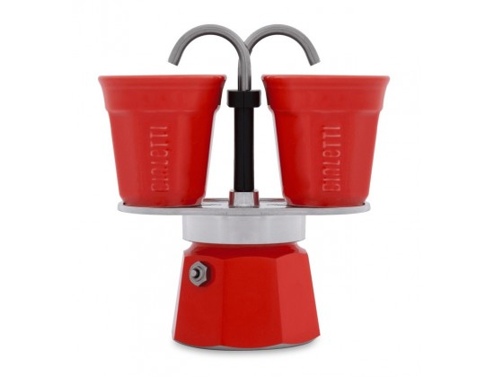Гейзерная кофеварка Bialetti Mini Express Red на 2 чашки 7303