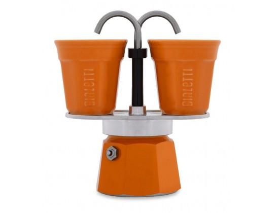 Гейзерная кофеварка Bialetti Mini Express Orange на 2 чашки 7304