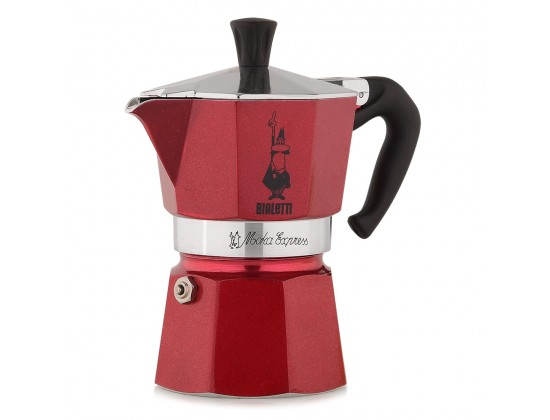 Гейзерная кофеварка Bialetti Moka Express Red emotion на 3 порции 5292