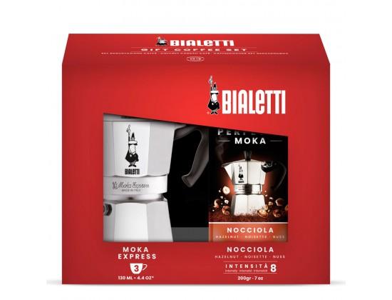 Набор Bialetti Moka Express на 3 порции + кофе ореховый Nocciola 3531