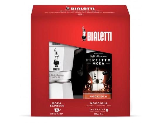 Набор Bialetti Moka Express на 6 порций + кофе ореховый Nocciola 3532