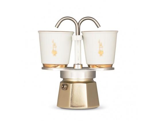 Гейзерная кофеварка Bialetti Mini Express Gold на 2 чашки 5870