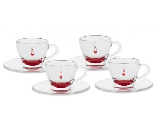Кофейная пара Bialetti для эспрессо Red 4 шт.