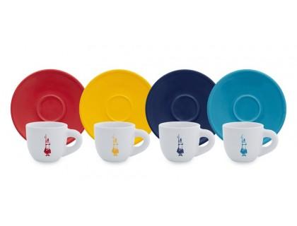 Кофейная пара Bialetti Moka Color 4 шт.