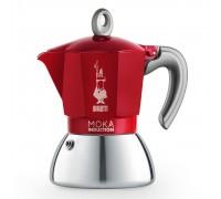 Гейзерная кофеварка Bialetti Moka Induction Red на 4 порции 6944