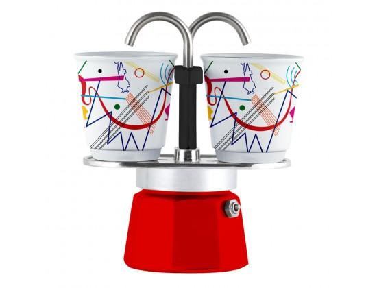 Гейзерная кофеварка Bialetti Mini Express Arte Kandinsky на 2 чашки 1407