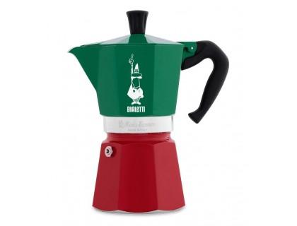 Гейзерная кофеварка Bialetti Moka Express Tricolore на 6 порций 5323