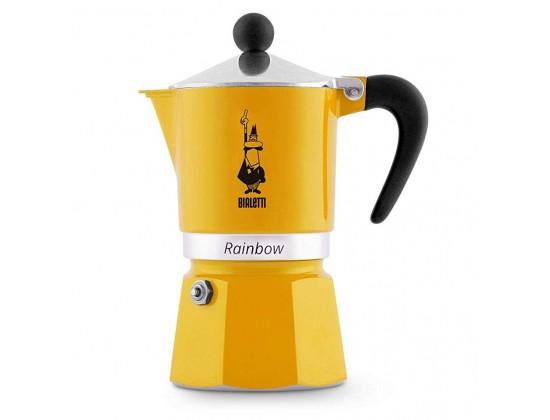 Гейзерная кофеварка Bialetti Rainbow Yellow на 3 порции 4982