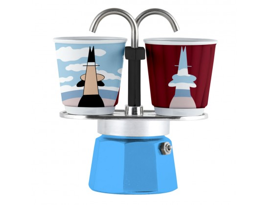 Гейзерная кофеварка Bialetti Mini Express Arte Magrite на 2 чашки 1406