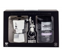 Подарочный набор Bialetti Moka Express Silver + кофе