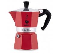Гейзерная кофеварка Bialetti Moka Color Red на 3 порции 5292
