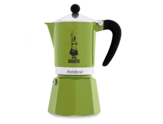 Гейзерная кофеварка Bialetti Rainbow Green на 6 порций 4973