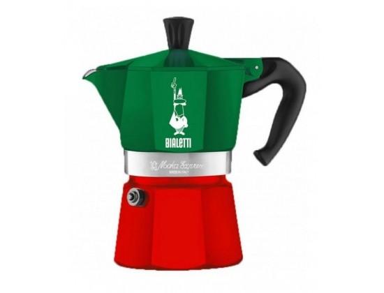 Гейзерная кофеварка Bialetti Moka Express Tricolore на 3 порции 5322