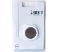 Набор запчастей для кофеварок Bialetti из стали на 2 порции (1 уплотнитель + 1 фильтр)