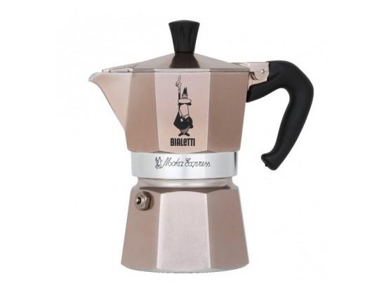Гейзерная кофеварка Bialetti Moka Express Rose Gold на 3 порции RSG003