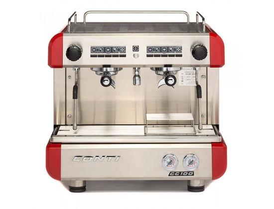 Профессиональная кофемашина Conti CC100 Compact 2GR Red