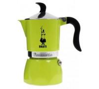 Гейзерная кофеварка Bialetti Fiametta Lime на 3 порции 4792