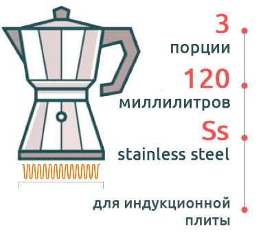 Гейзерная кофеварка Bialetti Moka Induction Antracite 4822